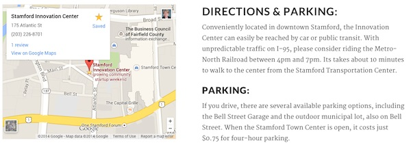 Directions to Stamford Innovation Center